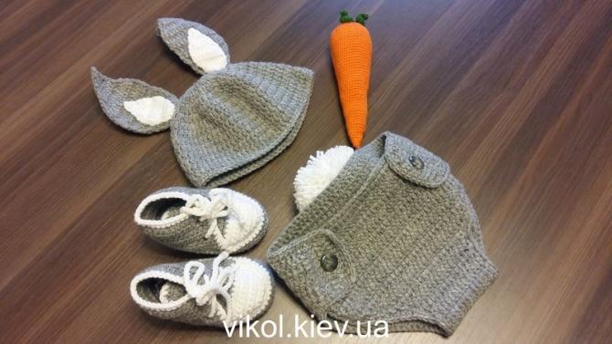 Костюм для фотосессии новорожденных Заяц купить в Киеве на заказ