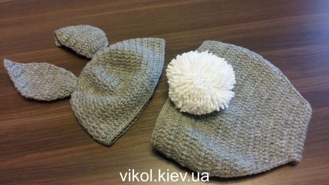 Костюм Зайца с пушистым хвостом новорожденному для фотосессии купить в Киеве