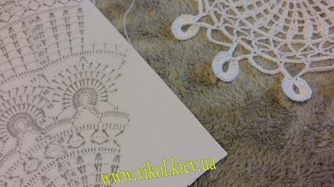 вязание со схеме салфетки нежные узоры