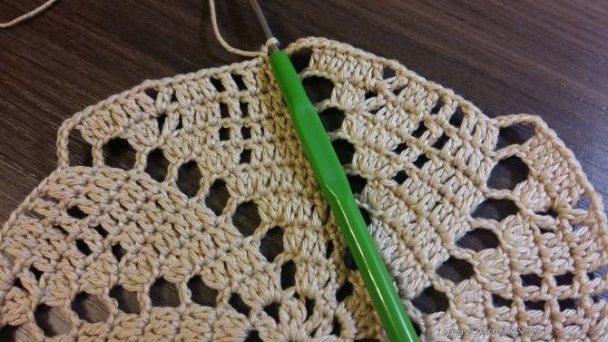 Круглая салфетка крючком вязание с описанием