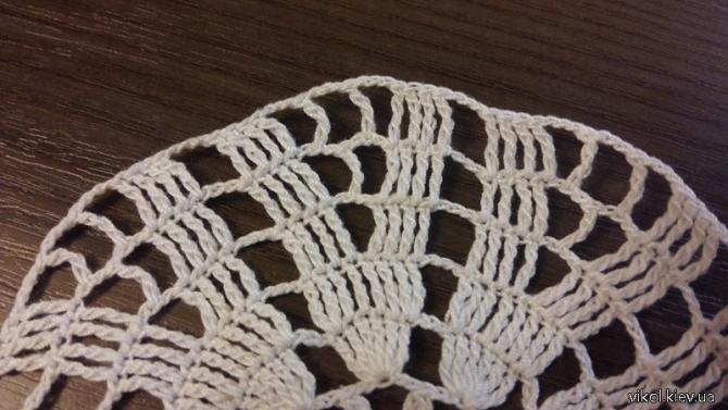 Описание и схема по вязанию простой салфетки