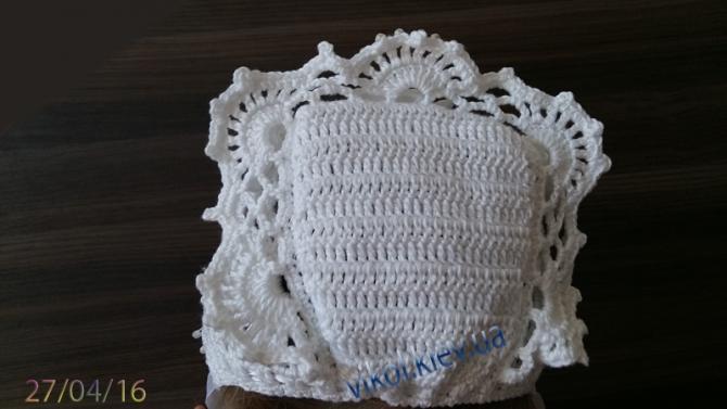 Затылочная часть вязаной шапки