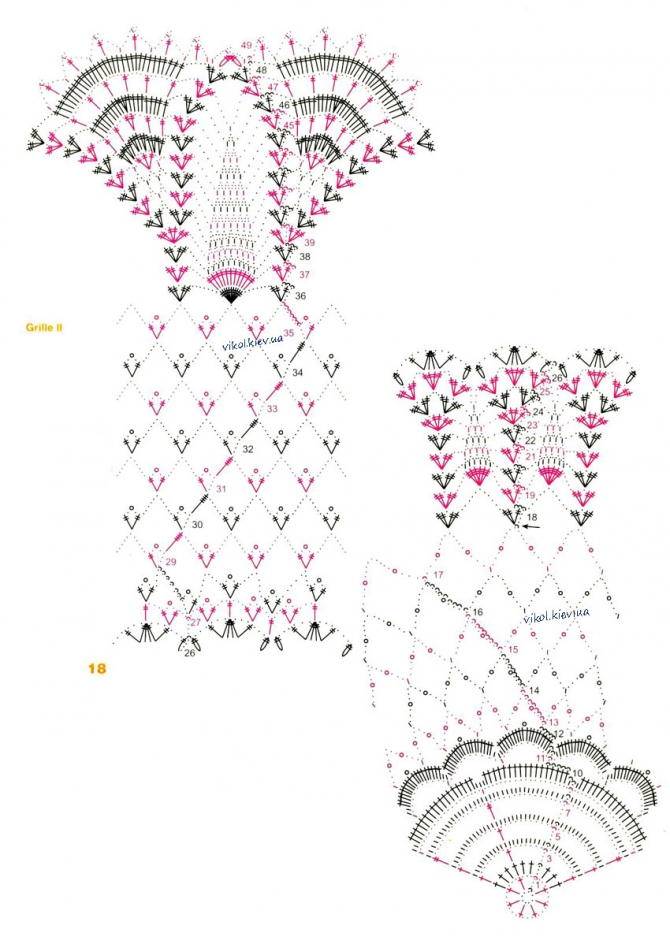 Схема легкой ажурной скатерти для вязания крючком