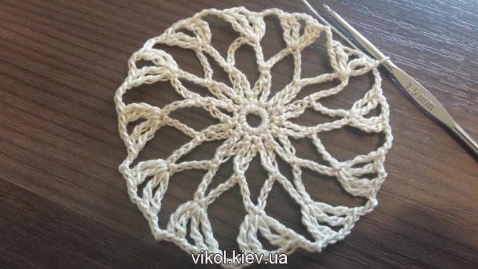 Скатерть крючком вязание по схеме узор ананасы