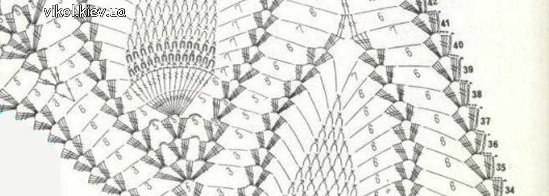 Схема скатерти вязание ананасов пошагово своими руками