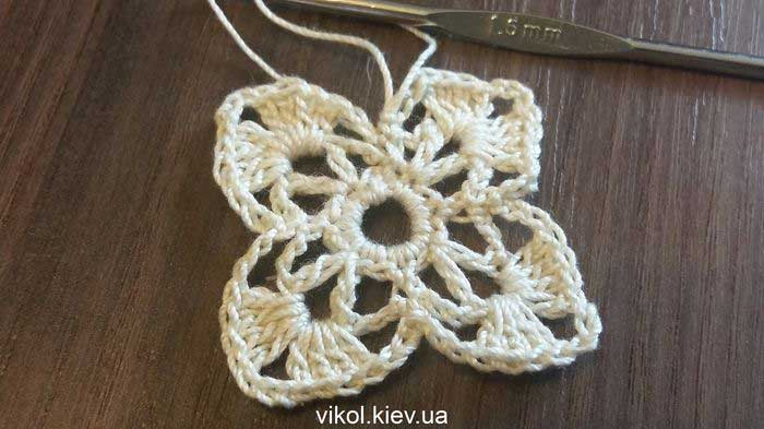 Квадратная салфеткадля начинающих пошаговое вязание
