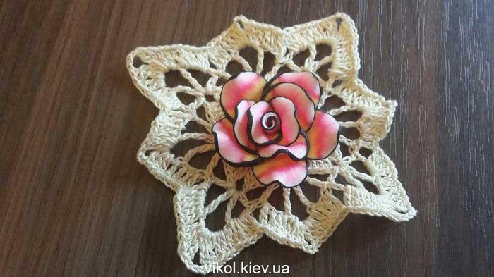 Красивая квадратная салфетка крючком своими руками купить в Киеве
