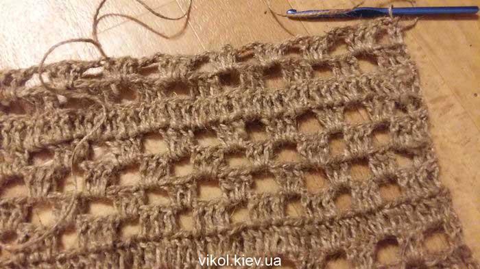 джутовый коврик крючком для начинающих