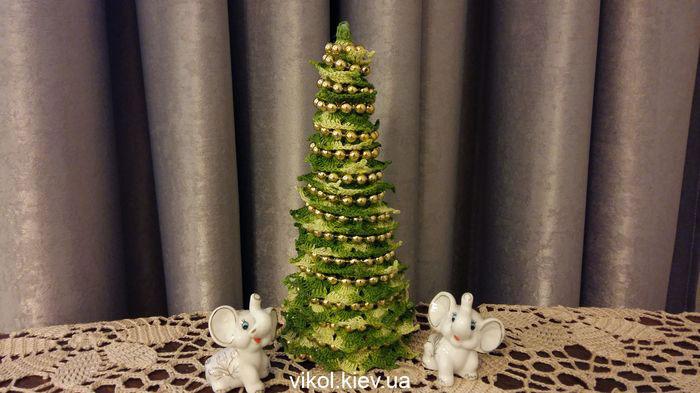 вязание крючком новогодней елочки