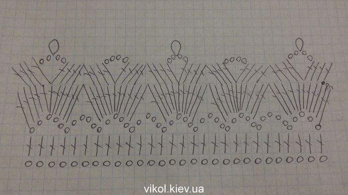 вязаные елочки крючком схемы