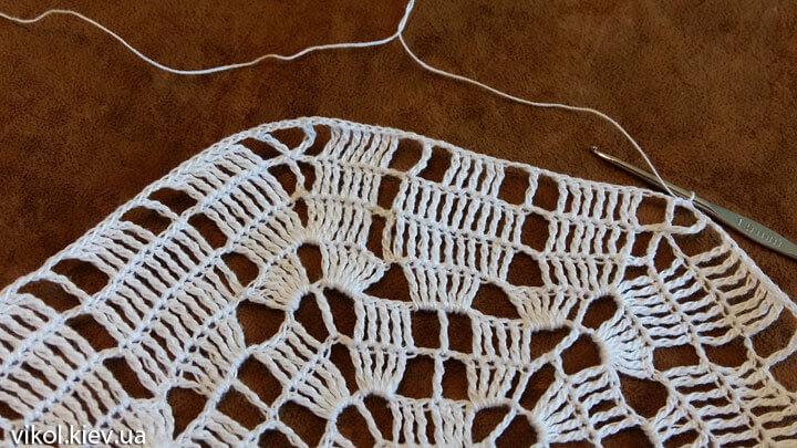 Шестигранная салфетка крючком пошаговое вязание по схеме
