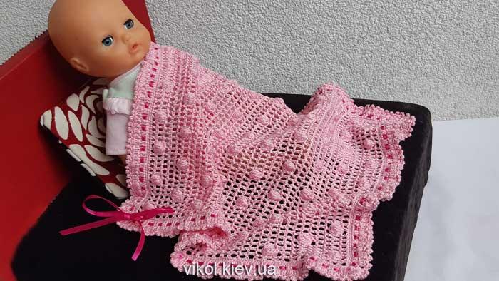 Купить вязаный плед для новорожденного в Киеве