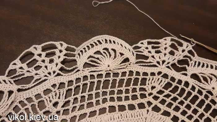 Вязание круглых восьмиугольных салфеток крючком на заказ