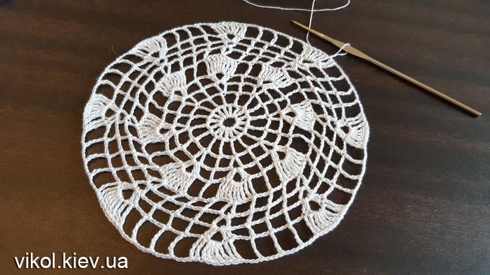 Салфетки восьмиугольные вяжем крючком из 100% хлопка
