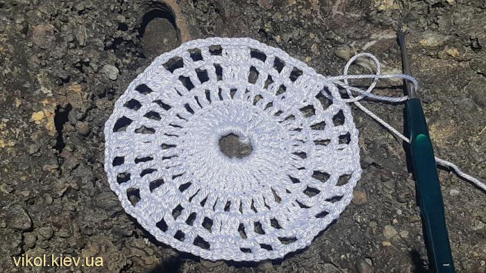 Как вязать круглую ажурную салфетку крючком