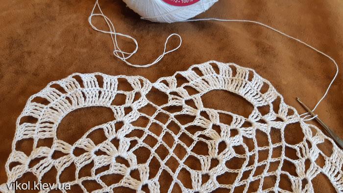 Тонкое вязание салфетки крючком по схеме