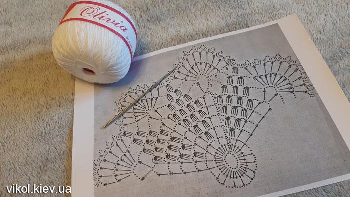 Вязание салфетки крючком пошагово по схеме