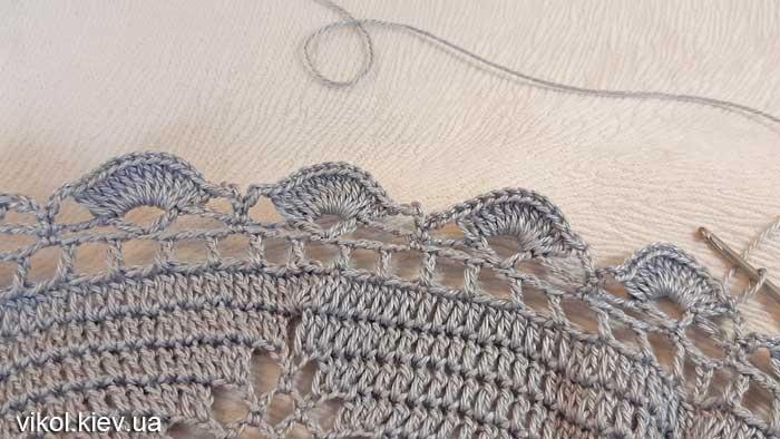 Красивое вязание круглой салфетки на заказ фото