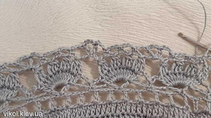 Узор крючком в круглой салфетке пошаговое вязание