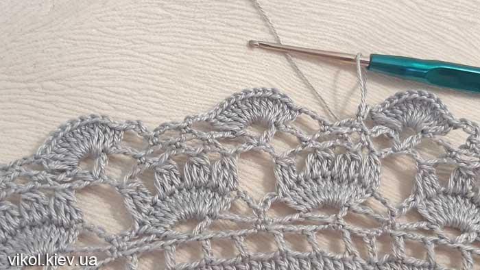 Узор вязания круглой салфетки крючком на заказ с фото