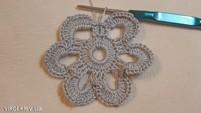 Вязание круглой салфетки крючком Бархатные кружева