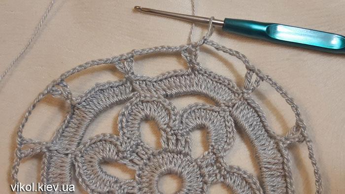 Вязание для начинающих салфетка Бархатные кружева