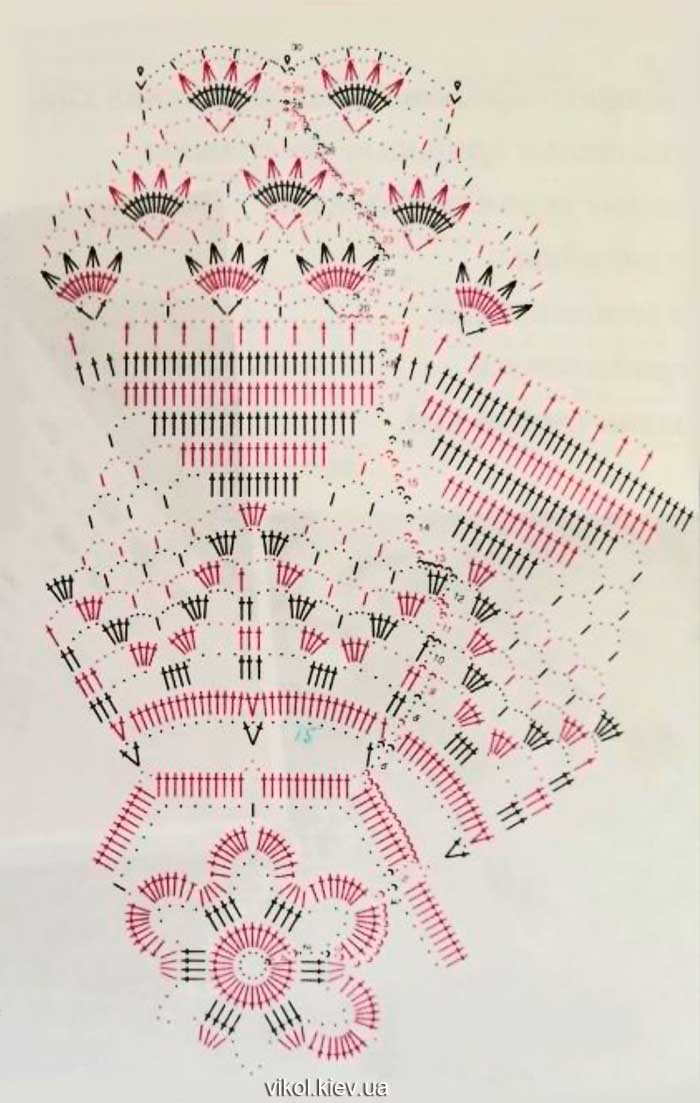 Схема салфетки Бархатные кружева фото