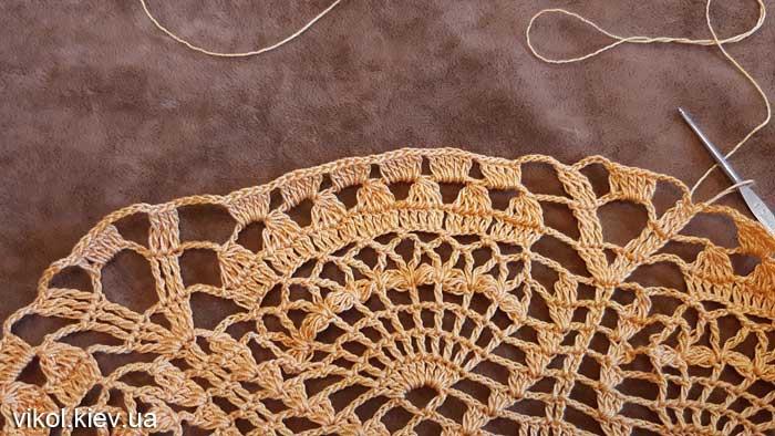 Вязание большой салфетки крючком своими руками фото