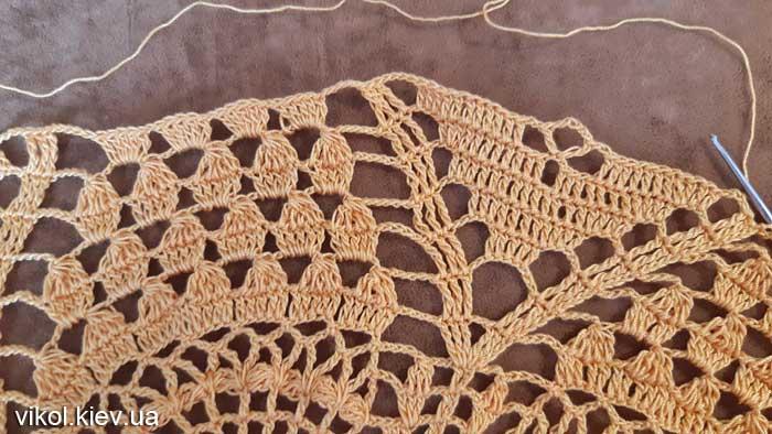 Ручное вязание салфетки большой крючком фото