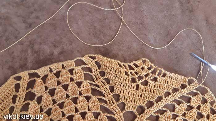 Фото вязания пошагово салфетки большого размера для начинающих