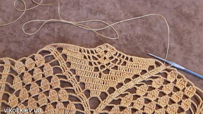 Салфетка крючком с пошаговым вязанием фото