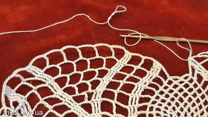Салфетка для начинающих вяжу пошагово фото салфетки Нежность хризантемы