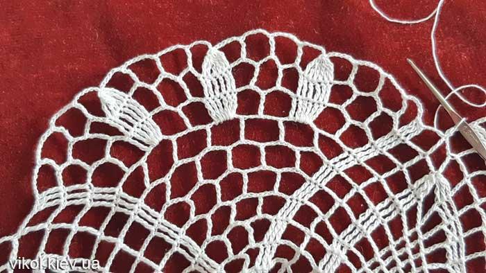 Вязание крючком салфеток для начинающих Нежность хризантемы пошагово