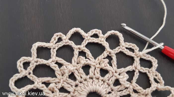 Красивое вязание салфетки крючком с шишками