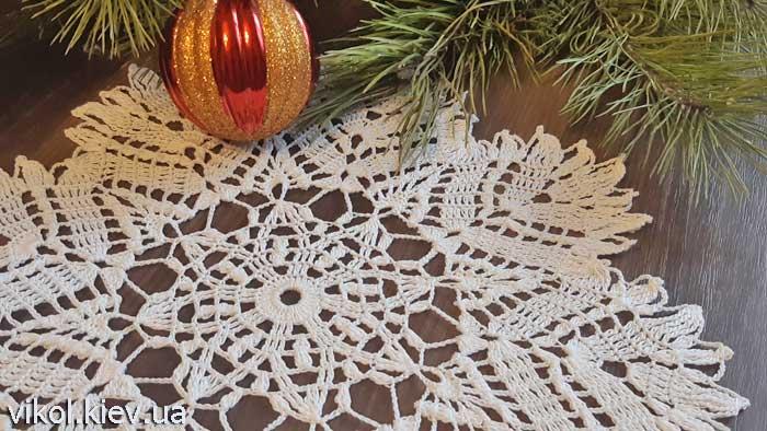 Салфетка снежинка вязание крючком мастер класс