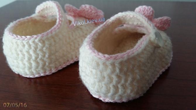 туфли для девочки крючком на заказ