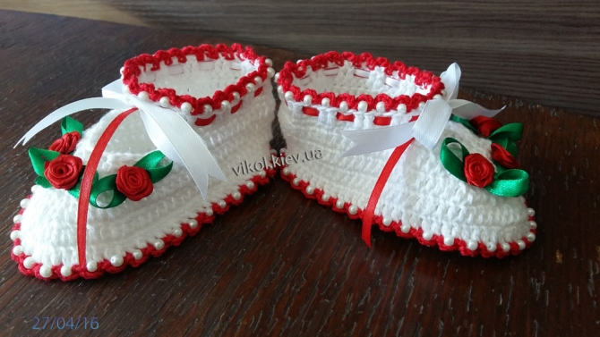 нежные туфельки с бусинками