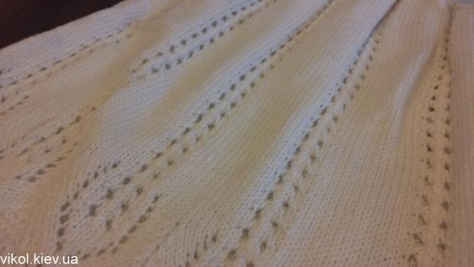 Узор спицами для детского вязаного платья