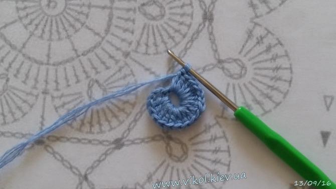 Вяжем салфетку пошагово по схеме