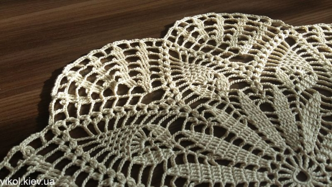 Красивая вязаная ажурная салфетка купить в Киеве
