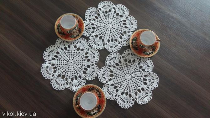 Купить вязаных салфеток под чашки или вазы в Киеве