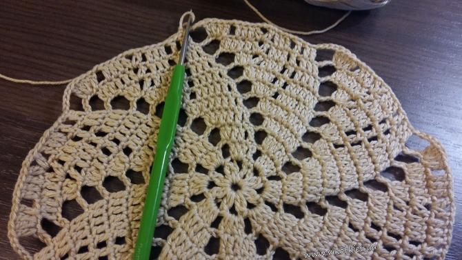 Вязание салфетки ажурной МК