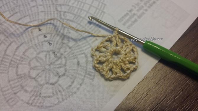 Крючком вязание салфетки пошагово