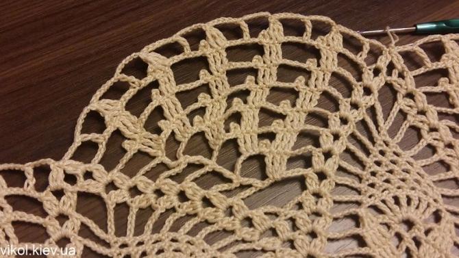 Подробные схемы вязание салфеток крючком