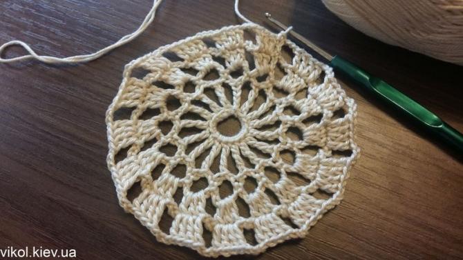 Салфетка крючком своими руками вязание
