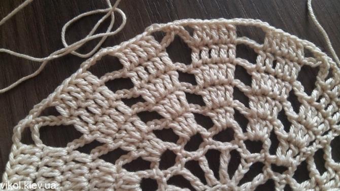 Вязание салфетки крючком по схеме