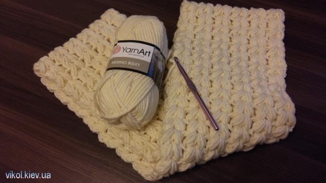 Связать шарф снуд двухсторонним узором на заказ в Киеве