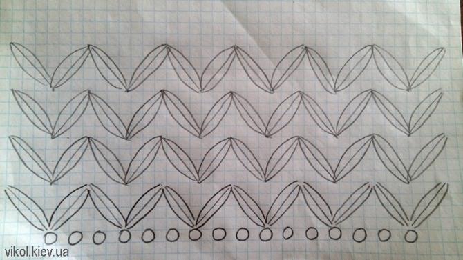 Схема вязание крючком шарфа снуда воздушными столбиками фото