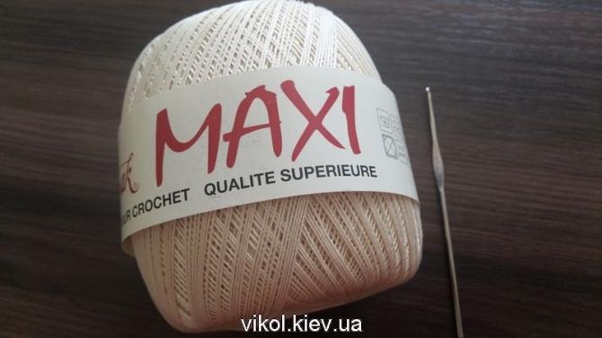 Пряжа Maxi для ручного вязания круглой скатерти на заказ в Киеве