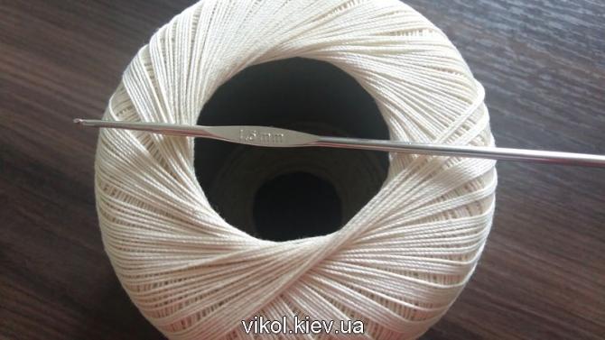 Атрибуты для вязания скатерти большой и круглой с ананасами на заказ в Киеве